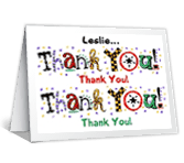 Eclectic Thanks Thank You Printable Cards