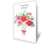 Your Thoughtfulness Thank You Printable Cards