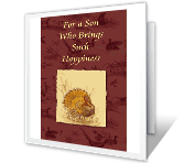 For a Dear Son Thanksgiving Printable Cards