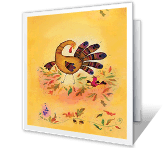 Friendly Wishes for You Thanksgiving Printable Cards