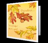 Grateful for Grandma Thanksgiving Printable Cards