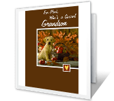 Love for Grandson Thanksgiving Printable Cards