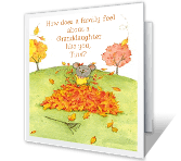 Thankful for Granddaughter Thanksgiving Printable Cards
