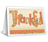 Thankful for You Thanksgiving Printable Cards