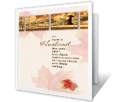 Wonderful Husband Thanksgiving Printable Cards