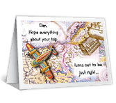 Hope Trip Goes Right Travel Printable Cards
