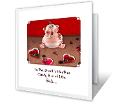 Candied Cupid Valentine's Day Printable Cards