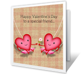 special friend valentines day printable cards special friend - Valentines Cards For Friends