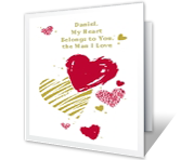 The Man I Love Valentine's Day Printable Cards