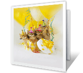 Purr-fect Birthday greeting card