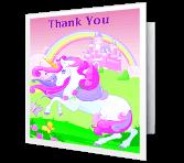 Royal Thank You greeting card