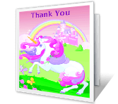 Royal Thank You greeting card