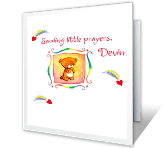 Sending Little Prayers greeting card