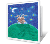 Snuggle-Bunnies greeting card