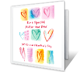 Special Mother and Dad greeting card