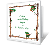 St. Patrick's Day Birthday greeting card