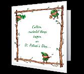St. Patrick's Day Birthday greeting card