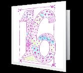 Sweet 16! greeting card