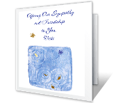 Sympathy and Friendship greeting card