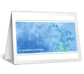 Sympathy and Prayer greeting card