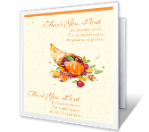 Thank You, Lord greeting card