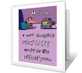 Thanks, Mom! greeting card