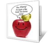The Best Medicine Is Laughter greeting card
