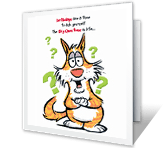 The Big Question greeting card
