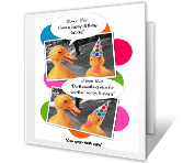 Thimon Thez, Happy Birthday! greeting card