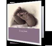Tiny Feet greeting card