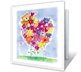 To a Special Girl greeting card