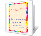 To Comfort and Strengthen greeting card