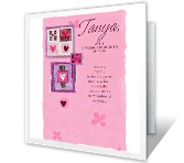 To Sister With Love greeting card
