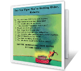 Top 10 Signs You're Getting Older greeting card