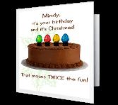 Twice the Fun greeting card