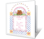 Two Little Twins greeting card