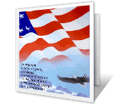 United and Defiant greeting card