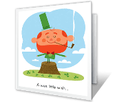Wee Little Wish greeting card