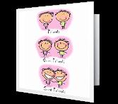 Weird Friends! greeting card