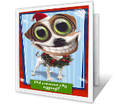 Where's the Eggnog? greeting card
