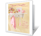 With Loving Pride, Daughter greeting card