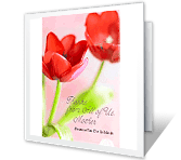 With Our Thanks, Mother greeting card