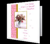 Wonderful Daughter greeting card