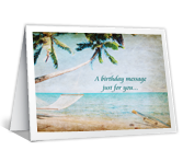 Birthday Message greeting card