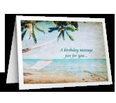 Birthday Message greeting card