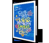Bright and Happy Hanukkah greeting card