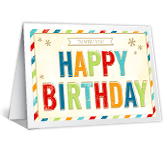 Bright Birthday Wishes greeting card
