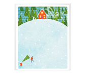 Country Christmas stationery