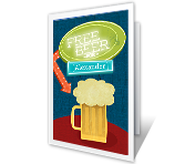 Free Beer! greeting card