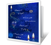 Full of Happiness at Hanukkah greeting card